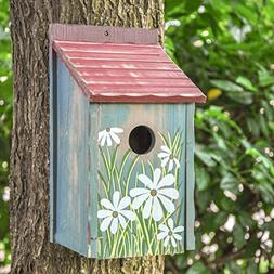 birdhouses for outside Retro Painted outdoor decorative bird