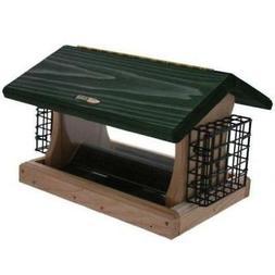 Birds Choice 5 Quart Cedar 2-Sided Bird Feeder with Suet Cag