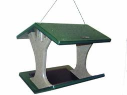Birds Choice Recycled Hanging Fly-Thru Bird Feeder - Green R
