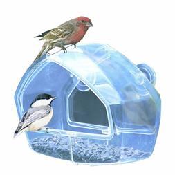 Birdscapes Clear Window Feeder Shatterproof Plastic Outdoor