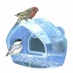 Birdscapes Clear Window Squirrel Proof Bird Feeder Outdoor S