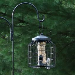 Sunnydaze 12 Inch Black 4-Peg Squirrel-Proof Wild Bird Feede