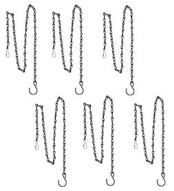 Honbay 6pcs 36 Inch Black Bird Hanging Chain for Bird Feeder
