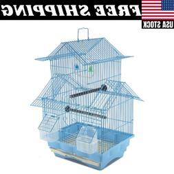 Bird Cage House Style Starter Kit Swing Perch Feeder 2 Story