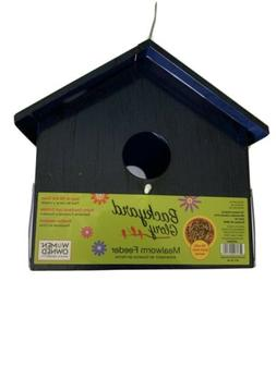 Backyard Glory Blue metal Bird Mealworm Feeder