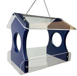 JCs Wildlife Blue Recycled Poly Lumber Hanging Bird Feeder