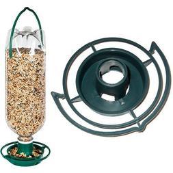 bottle bird feeder seed green