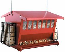 BRAND NEW AUDUBON SEEDS 'N MORE METAL HOPPER BIRD FEEDER MOD