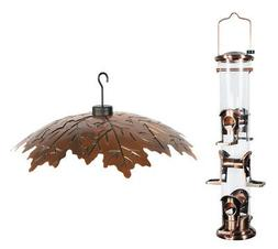Woodlink Brushed Copper 6 Port Seed Feeder with Brushed Copp