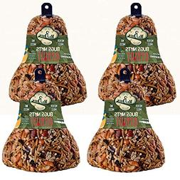 4-Pack of Mr. Bird Bugs, Nuts, Fruit Wild Bird Seed Bell 12.