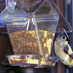 Cafe Window Hopper Bird Feeder Watch Feathered Friends Insid