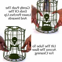 Caged Tube Feeder GrayBunny GB-6860 Squirrel Proof Wild Bird
