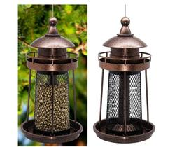 Caged Tube Feeder Squirrel Proof Wild Bird Feeder GrayBunny