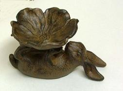 cast iron rabbit dogwood blossom