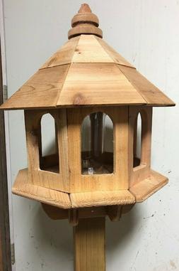 Handmade Cedar Bird Feeder, Gazebo fits 4x4 Post