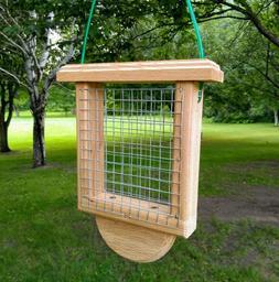 Cedar Suet Bird Feeder - Suet Feeder - Wood Suet Feeder