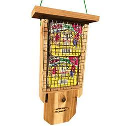 The Squirrel Shop Classic Cedar Double Suet Bird Feeder with