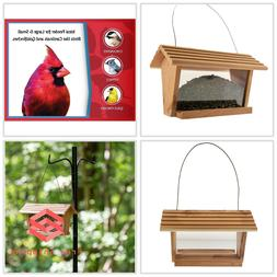 Wild Bird Feeder Classic Cedar Nature's Friend 3 lbs Seed Ca