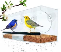 Flock To Me Clear Bird Feeder With Lifetime Replacement Guar