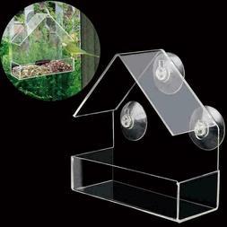 Clear House Window Bird Feeder Birdhouse With Suction Fe Kit