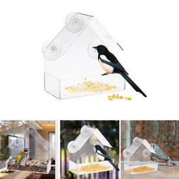 Clear Window Bird Feeder Feeding Squirrel Birdhouse With Suc