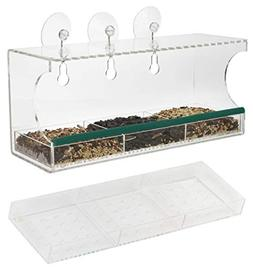 Clear Window Bird Feeder Observation kit   Transparent Natur
