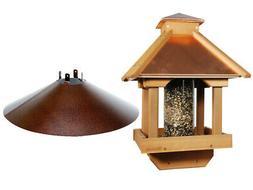 Woodlink COPGAZEBO Coppertop Wood Gazebo Bird Feeder with Wr