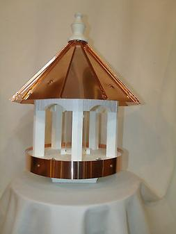 Copper Roof and Trim Bird Feeder Amish Made in USA Large 24