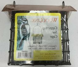 Woodlink Copper Top Single Suet Cage Bird Feeder NEW