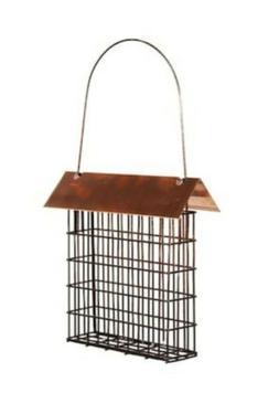 Woodlink Copper Top Single Suet Cage Bird Feeder
