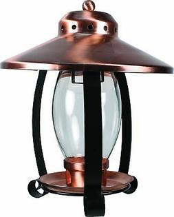 Audubon Coppertop Lantern Bird Feeder 1.25 Lb Copper & Black