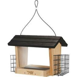 Natures Way CWF19 Cedar Hopper Feeder With Suet Cages