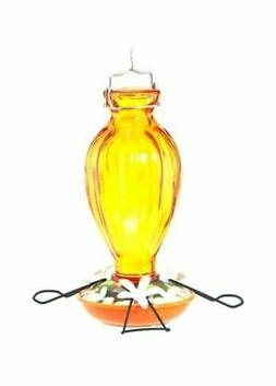 Audubon Decorative Glass Oriole Feeder 20 Oz. Orange