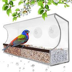 Deluxe Clear Window Bird Feeder, Large Wild Birdfeeder with