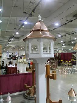 double copper roof bird feeder amish made