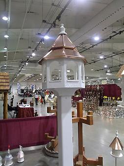 Double Copper top  Roof Bird Feeder Amish Made in USA X-Larg