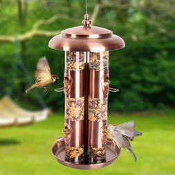 Durable Hanging Wild Bird Feeder Seed Container Hanger Garde