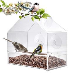 BAVISION Durable Window Acrylic Bird Feeder Outdoor Squirrel