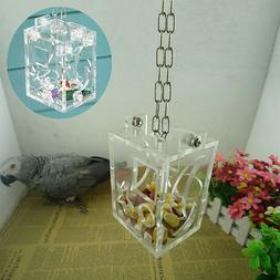 FA- IT- Bird Cage Feeder Hanging Forage Toys Pet Treat Hunt