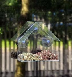FREE SHIPPING Window Bird Feeder Acrylic Suction Cup Clear N