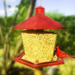 Garden Song Squirrel Proof Wild Bird Feeder Hanging Seed Out