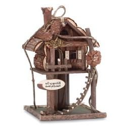 Smart Living Gardirect Wooden Bird Treehouse Birdhouse Log C