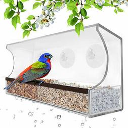 GB 6850 Deluxe Clear Window Bird Feeder LARGE Wild Birdfeede