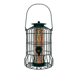 Caged Tube Feeder Squirrel Proof Wild Bird Feeder Outdoor Bi