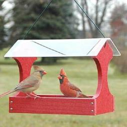 Woodlink Going Green Small Fly Thru Feeder Red