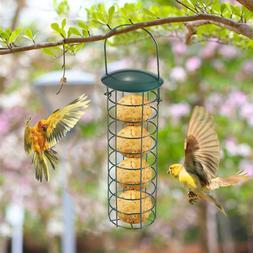 Green Hanging Wild Bird Feeder Seed Container Hanger Garden
