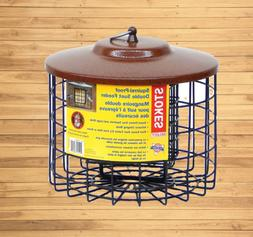 Handing Squirrel Proof Suet Holder Metal Cage Cafe Bird Feed