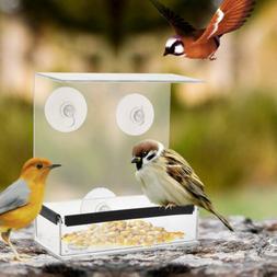 Hanger  Square Ceiling Window Bird Feeder Adsorption Type Ho