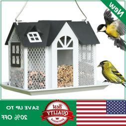 KINGSYARD Hanging Bird Feeder Full Metal Wildlife Seed Feede