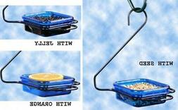 Hanging Bird Feeder, Polycarbonate Dish Blue 3/4-Cup, Jelly